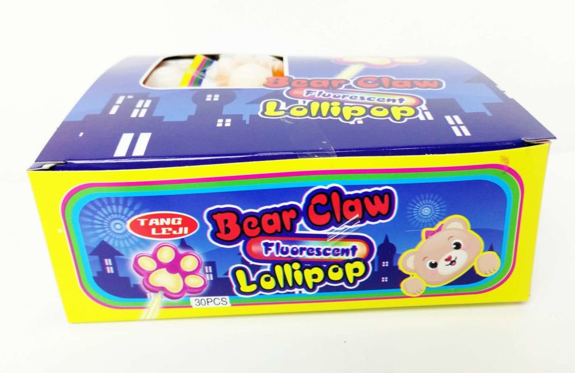 10g Bear's Paw Shape Lollipop Healthy Hard Candy With Good Taste Healthy lollipop good quality