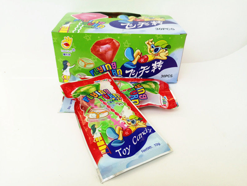 Toy Candy Flying toy/Multi Fruit Flavor Healthy Hard Candy With Lovely Funny Toy